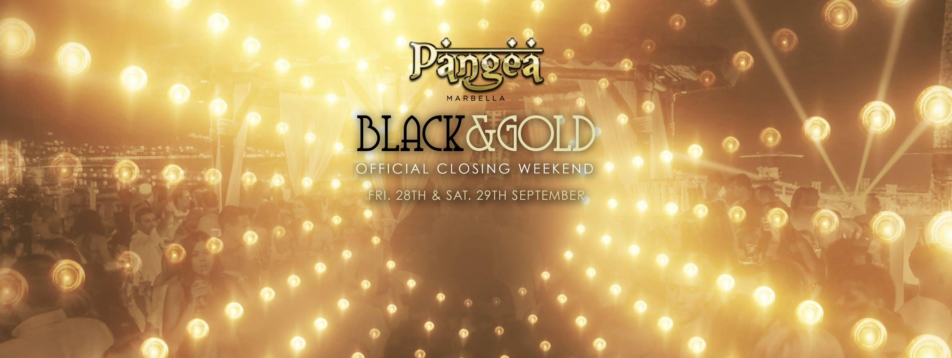 Pangea Black & Gold Summer Closing Weekend