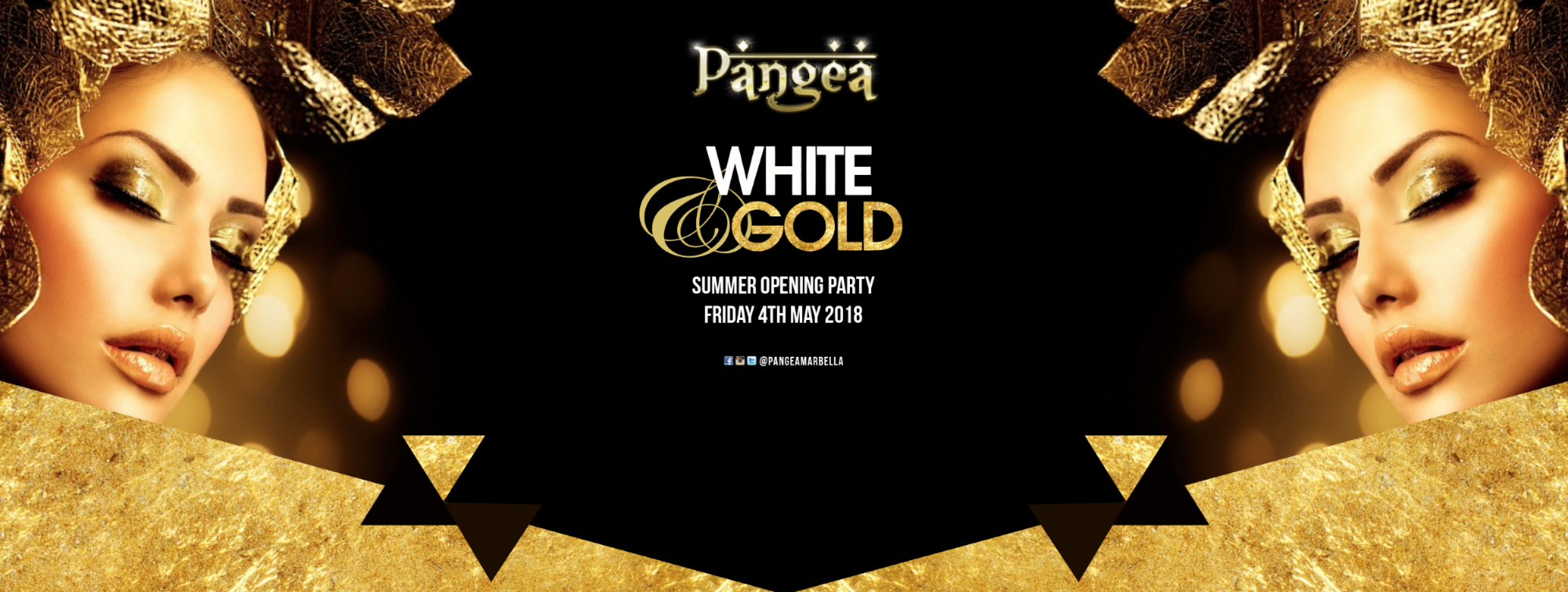 Pangea White & Gold Summer Opening Party